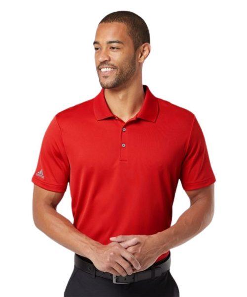 Red Adidas performance shirt