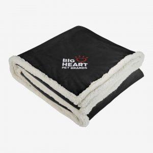 Sherpa Blanket black embroidered
