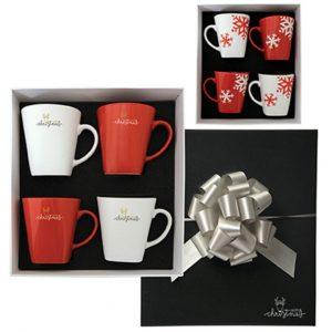 set of 4 mugs gift set boxed